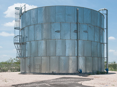 This big water storage tank needs the increased safety of an MPI-F