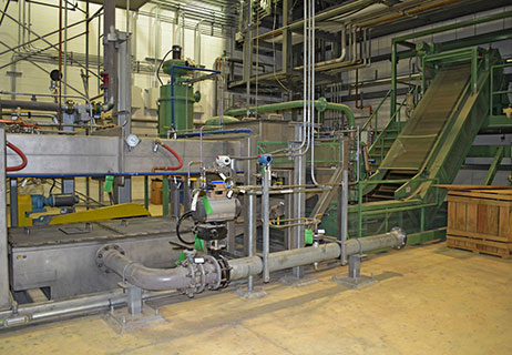 automated chemical handling line