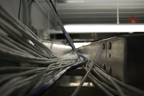 cables in cable tray