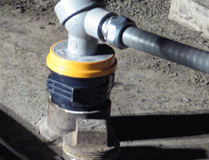 Ultrasonic level sensor in a hazardous location