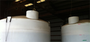 Magnesium chloride tanks at a DOT location