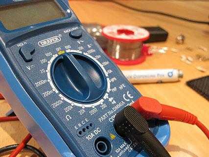 multimeter dial closeup