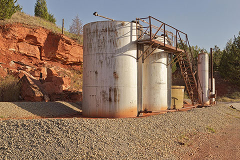 remote oil storage tanks in oklahoma