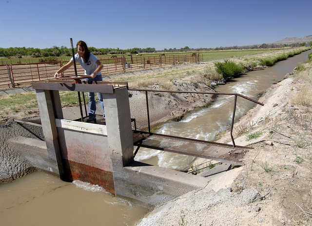 Sluice gate on a ranch canal