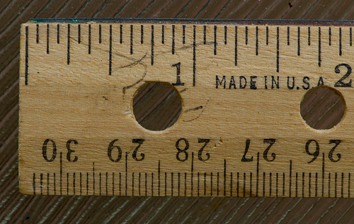 Most of us think of measurements linearly - like a ruler