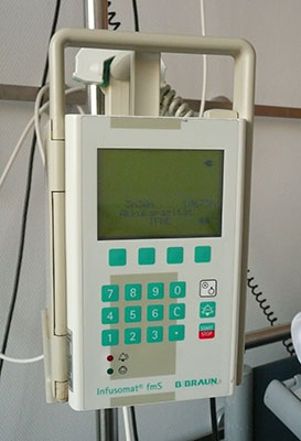 PG5 digital pressure gauge is used to test occlusion alarms on infusion pumps
