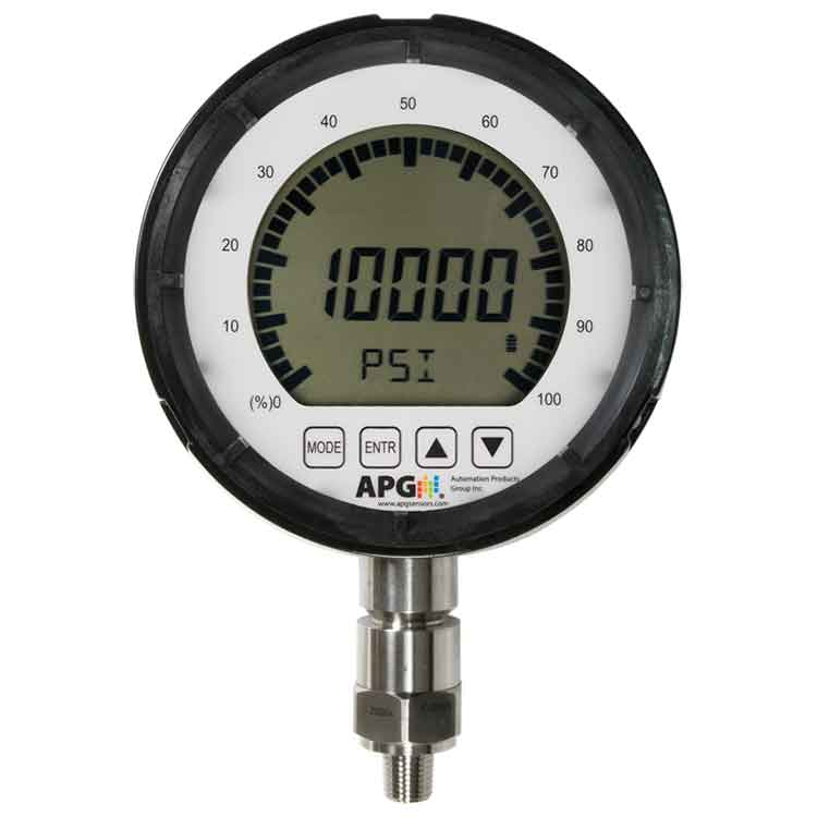PG10 Large Display Digital Pressure Gauge | APG Sensors